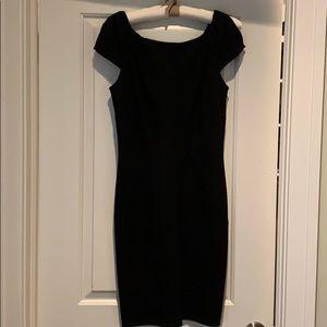 Diane von Furstenberg black sheath dress.